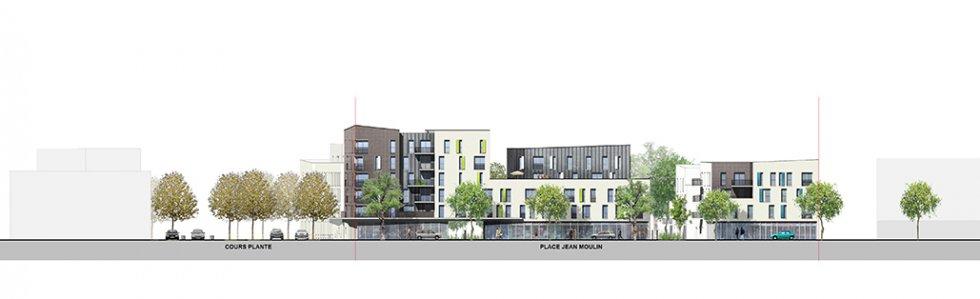 ARVAL architecture - Résidence intergénérationnelle – Amiens - 5 ARVAL Résidence intergénérationnelle à Amiens façade 2