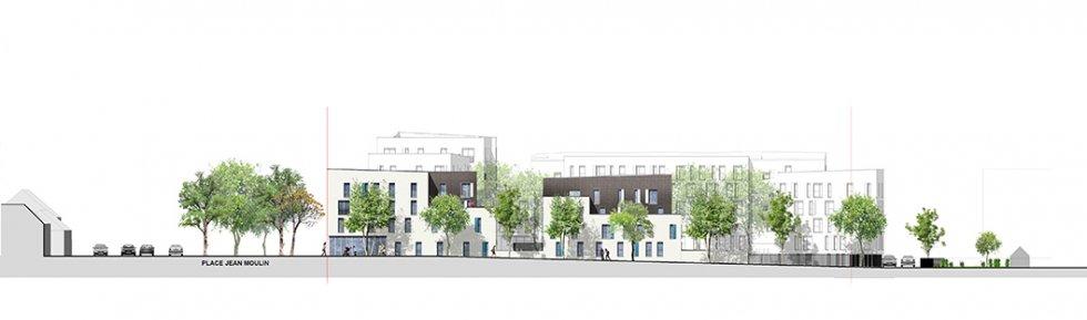 ARVAL architecture - Résidence intergénérationnelle – Amiens - 6 ARVAL Résidence intergénérationnelle à Amiens façade 3