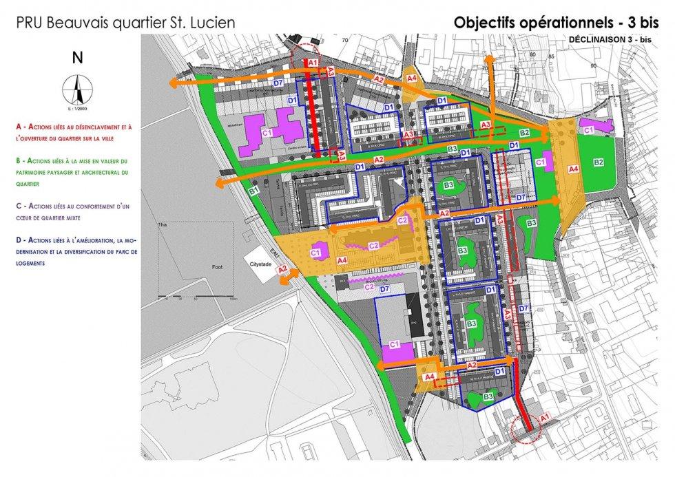 ARVAL architecture - NPNRU – Etude quartier Saint-Lucien – Beauvais - 9 1509-St Lucien-analyse urbaine-objectifs opérationnels3bis