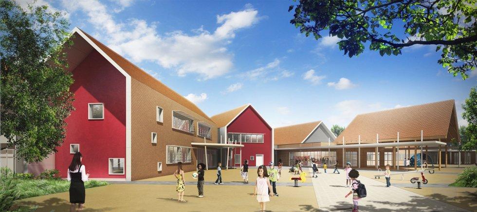 ARVAL architecture - Ecoles St. Exupéry et Weissenburger – Noyon - 8 ARVAL Ecole St Exupéry à Noyon  - pers aérienne
