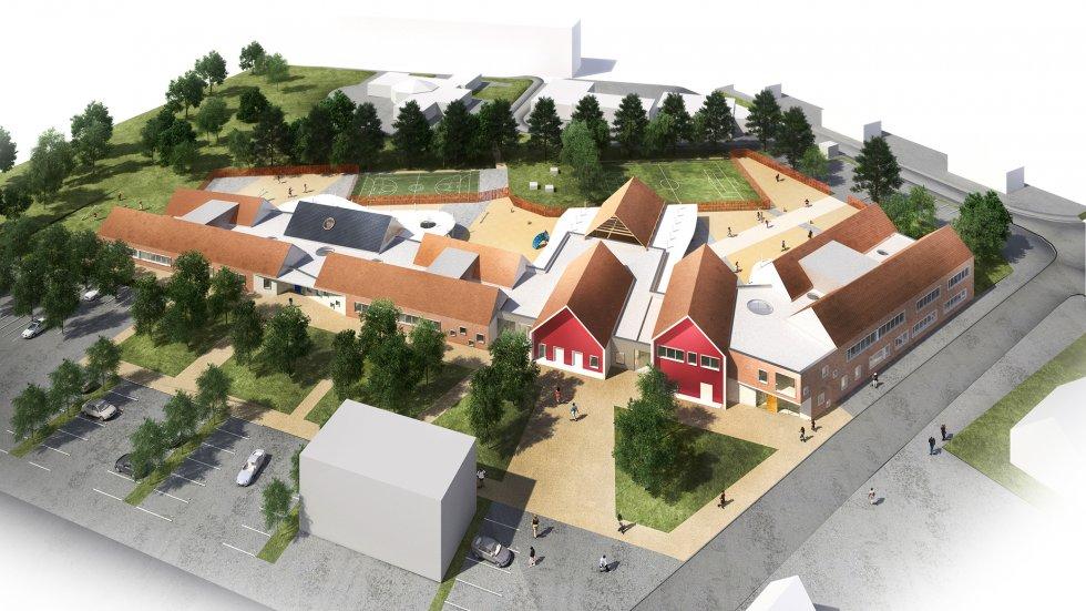 ARVAL architecture - Ecoles St. Exupéry et Weissenburger – Noyon - 7 ARVAL Ecole St Exupéry à Noyon  - pers aérienne