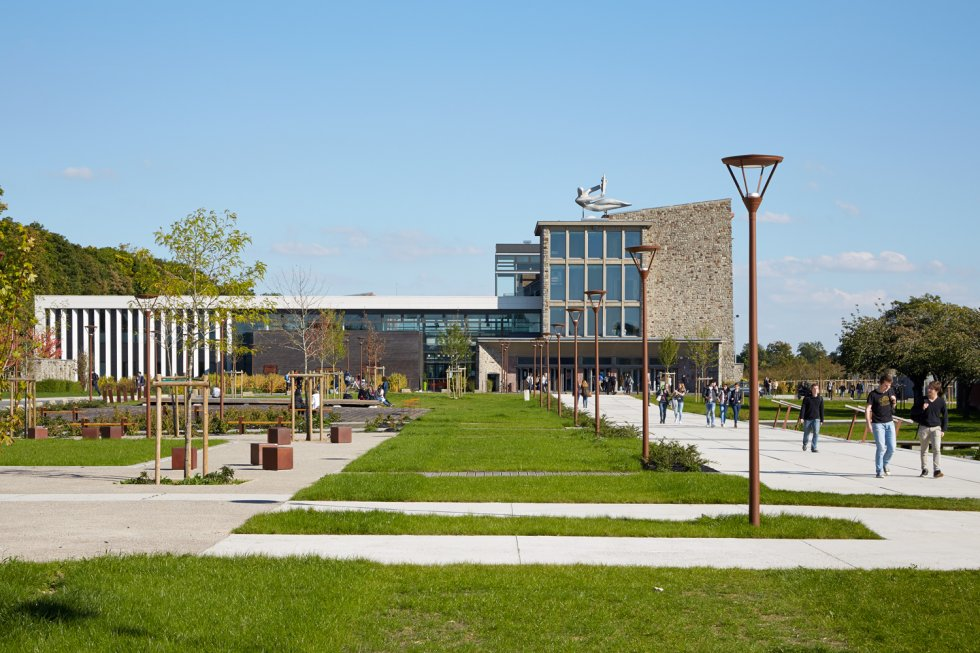 ARVAL architecture - Cité scolaire-Espaces extérieurs – Amiens - 1 arval cité scolaire amiens