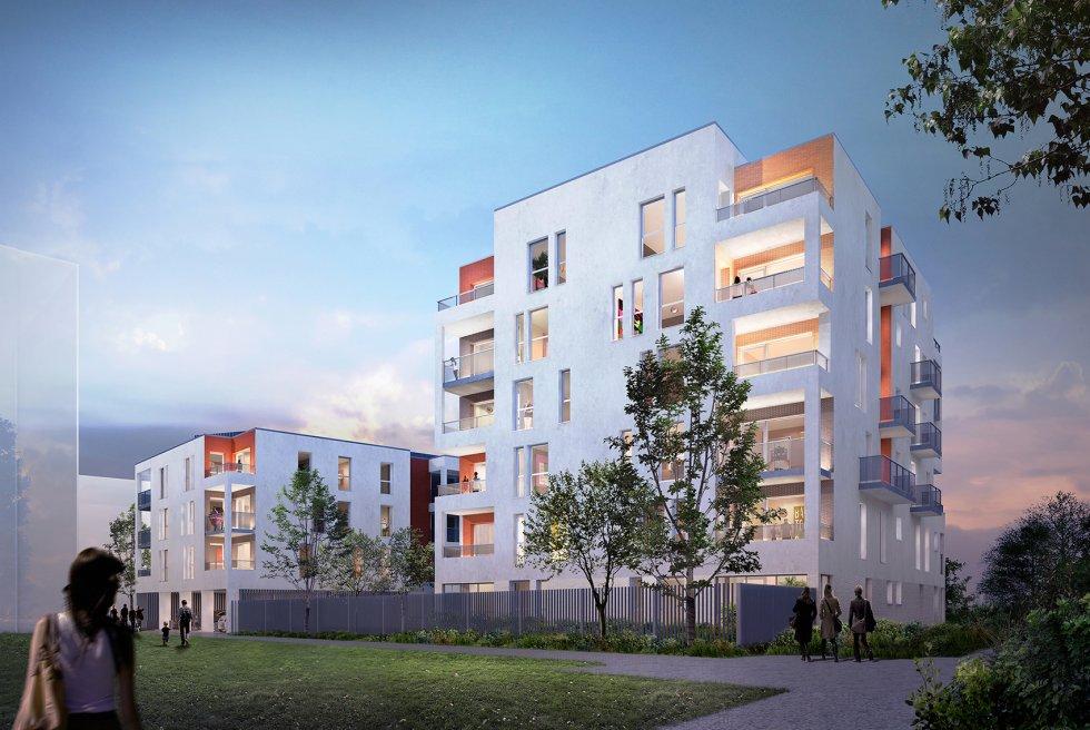 ARVAL architecture - 44 logements – Amiens - 1 ARVAL 44 logements à Amiens ZAC de la Gare de la Vallé Lot A32 pers 1