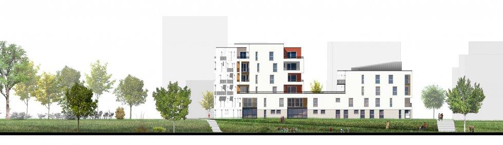 ARVAL architecture - 44 logements – Amiens - 4 ARVAL 44 logements à Amiens ZAC de la Gare de la Vallé Lot A32 façade