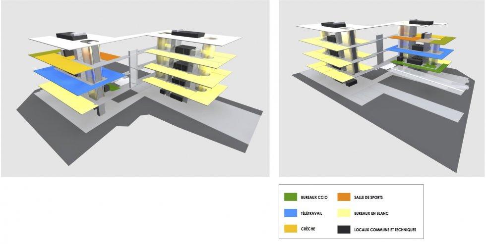 ARVAL architecture - Pôle Eiffel – Compiègne - 4 ARVAL Concours pour la construction du futur Pôle Eiffel à Compiègne organigramme
