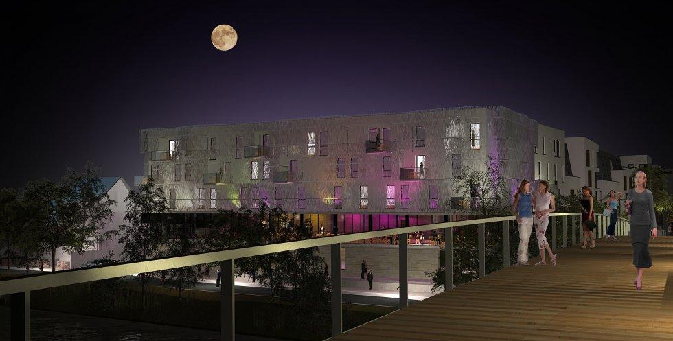 ARVAL architecture - Hôtel ZAC des deux Rives – Margny les Compiègne - 6 ARVAL HOTEL MARGNY les compiegne 2