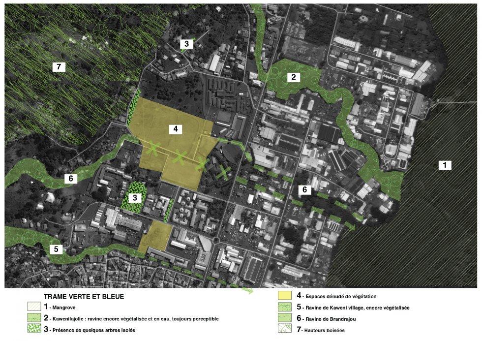 ARVAL architecture - Plan d'aménagement de la zone Kaweni – Mamoudzou - 3 Mamoudzou ARVAL trame verte et bleue