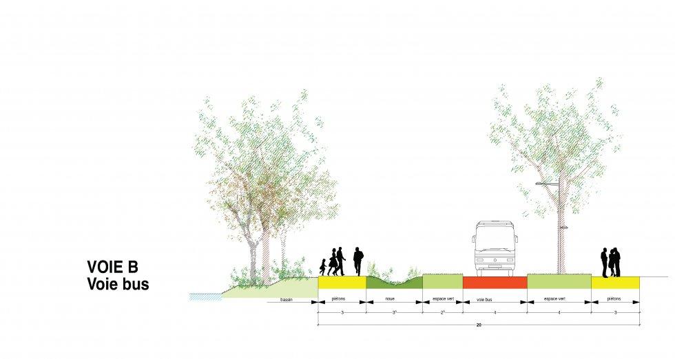 ARVAL architecture - Plan d'aménagement de la zone Kaweni – Mamoudzou - 12 Mamoudzou ARVAL coupes voirie