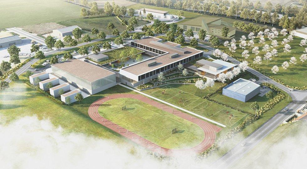 ARVAL architecture - Le nouveau collège – Crèvecoeur-le-Grand - 1 ARVAL-Nouveau collège de Crèvecoeur-le-Grand-vue