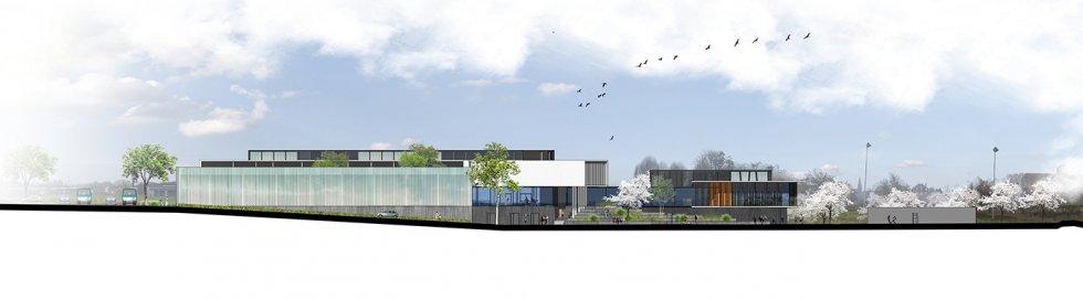 ARVAL architecture - Le nouveau collège – Crèvecoeur-le-Grand - 3 ARVAL-Nouveau collège de Crèvecoeur-le-Grand-elévation est