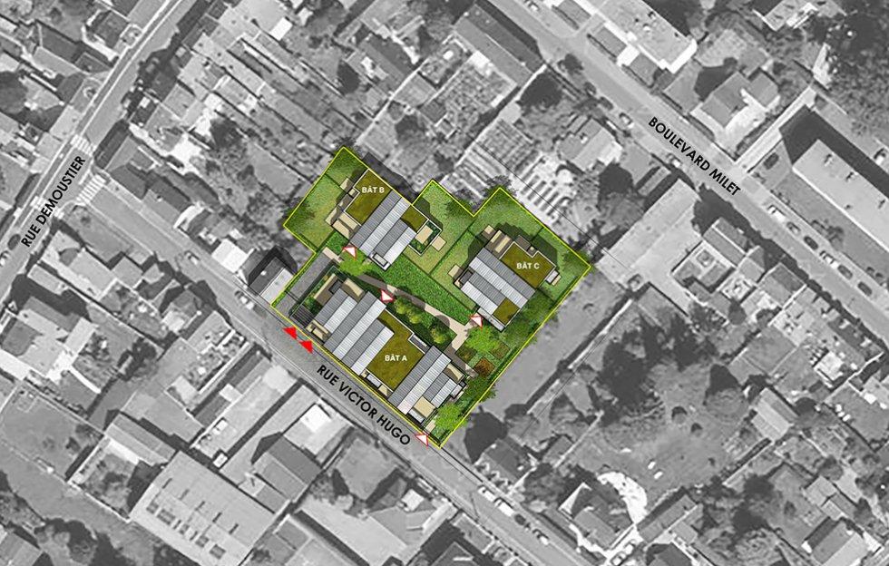 ARVAL architecture - 36 Logements – Villers-Cotterêts - 3 ARVAL-36 logements à Villers Cotterêts Logivam-plan de masse