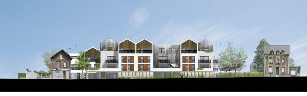 ARVAL architecture - 36 Logements – Villers-Cotterêts - 4 ARVAL-36 logements à Villers Cotterêts Logivam-façade rue