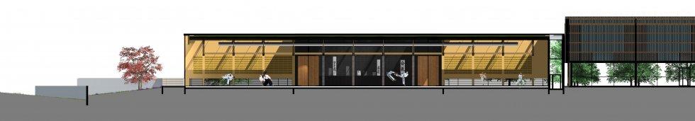 ARVAL architecture - Maison d'arts martiaux – Crépy-en-Valois - 5 ARVAL-Salle d'arts martiaux et sports de combat à Crépy-en-Valois-coupe