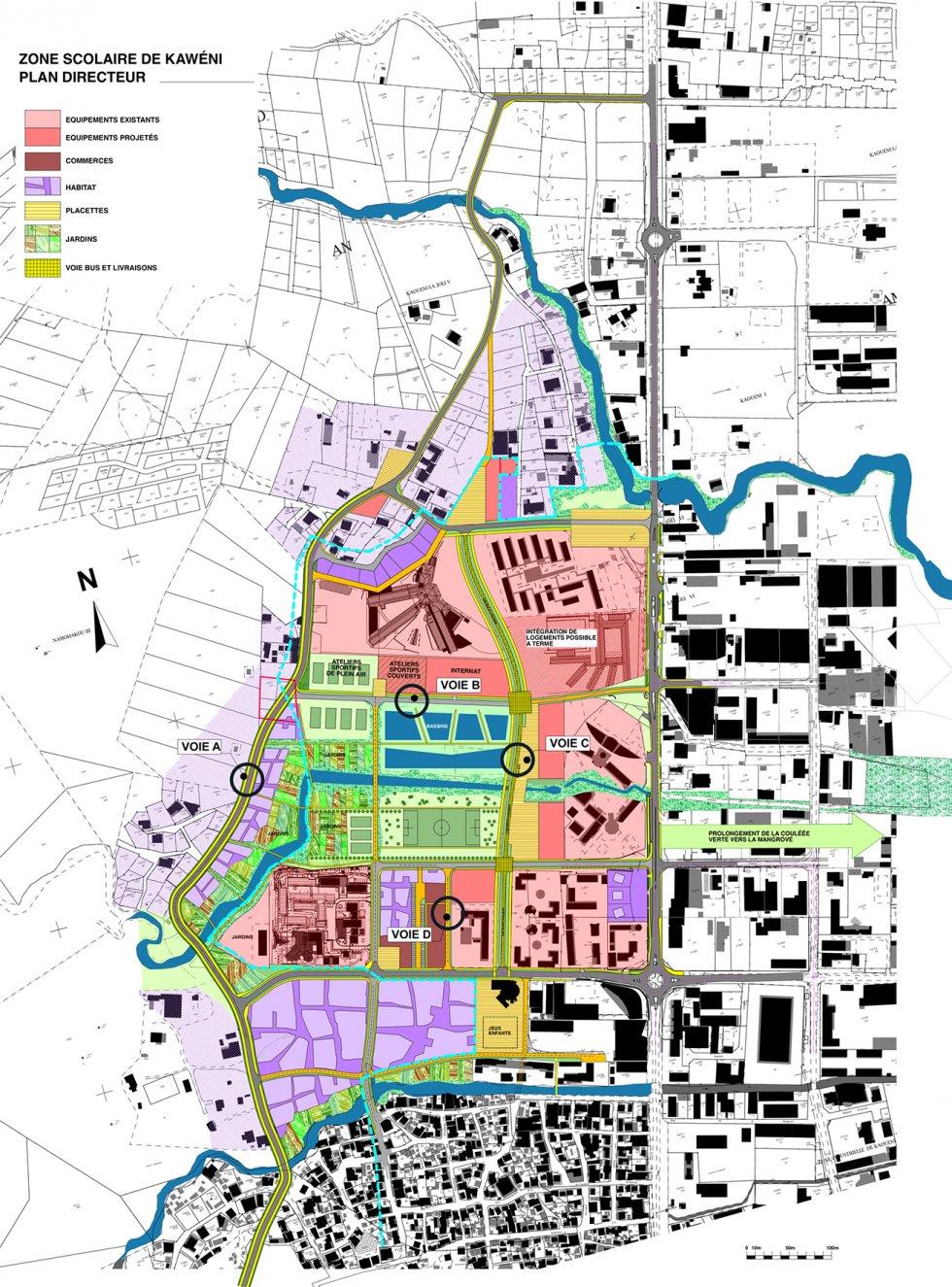 ARVAL architecture - Plan d'aménagement de la zone Kaweni – Mamoudzou - 1 Mamoudzou ARVAL plan directeur