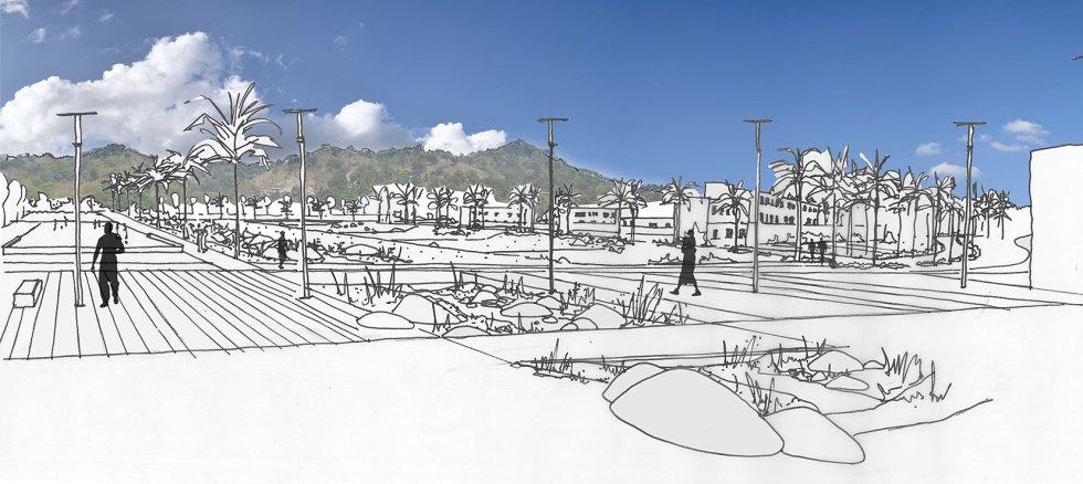 ARVAL architecture - Plan d'aménagement de la zone Kaweni – Mamoudzou - 2 Mamoudzou ARVAL croquis