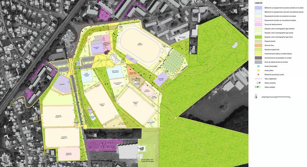 ARVAL architecture - Parc des sports – Lagny-sur-Marne - 4 ARVAL Parc des sports - Lagny-sur-Marne - plan AVP