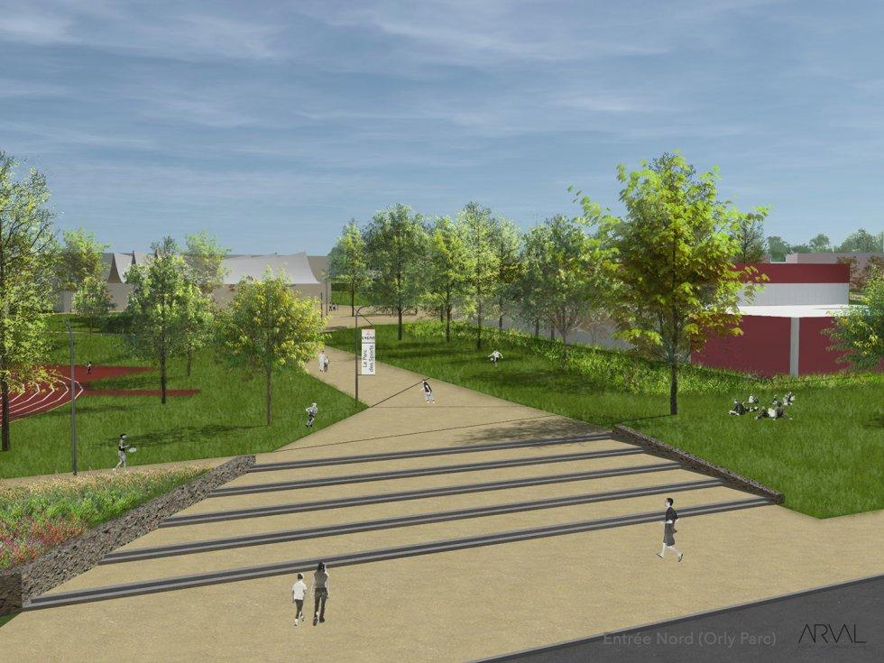 ARVAL architecture - Parc des sports – Lagny-sur-Marne - 2 ARVAL Parc des sports - Lagny-sur-Marne - pers