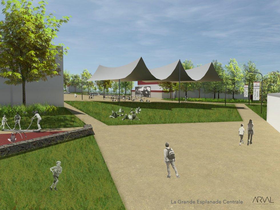 ARVAL architecture - Parc des sports – Lagny-sur-Marne - 3 ARVAL Parc des sports - Lagny-sur-Marne - pers
