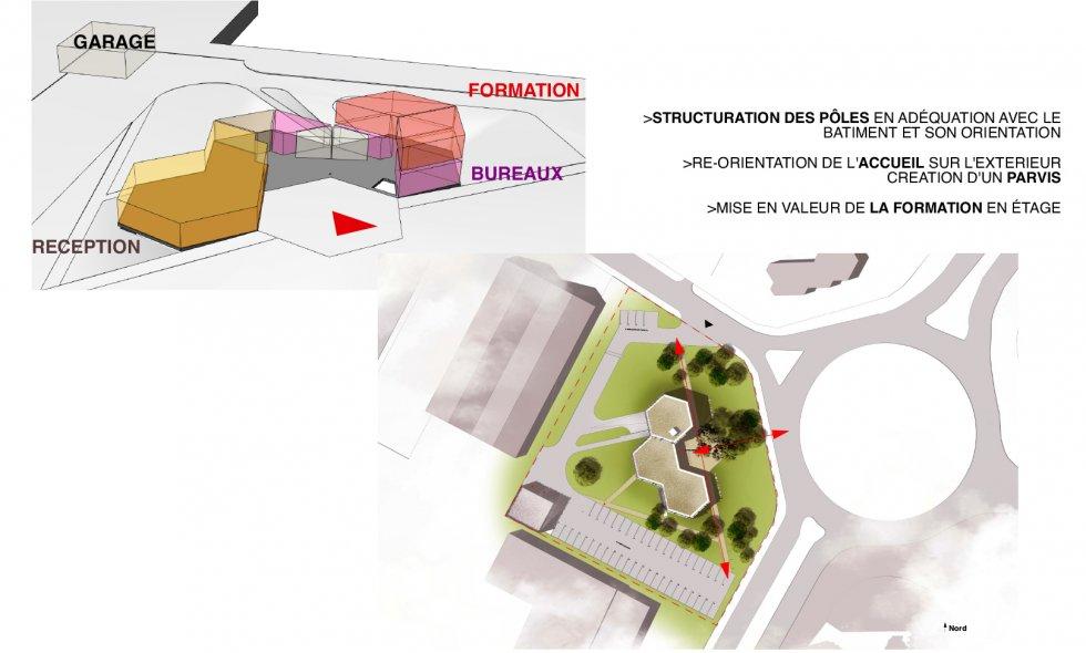 ARVAL architecture - Bureaux de la FFB de l'Oise - 4 ARVAL bureaux de la FFB