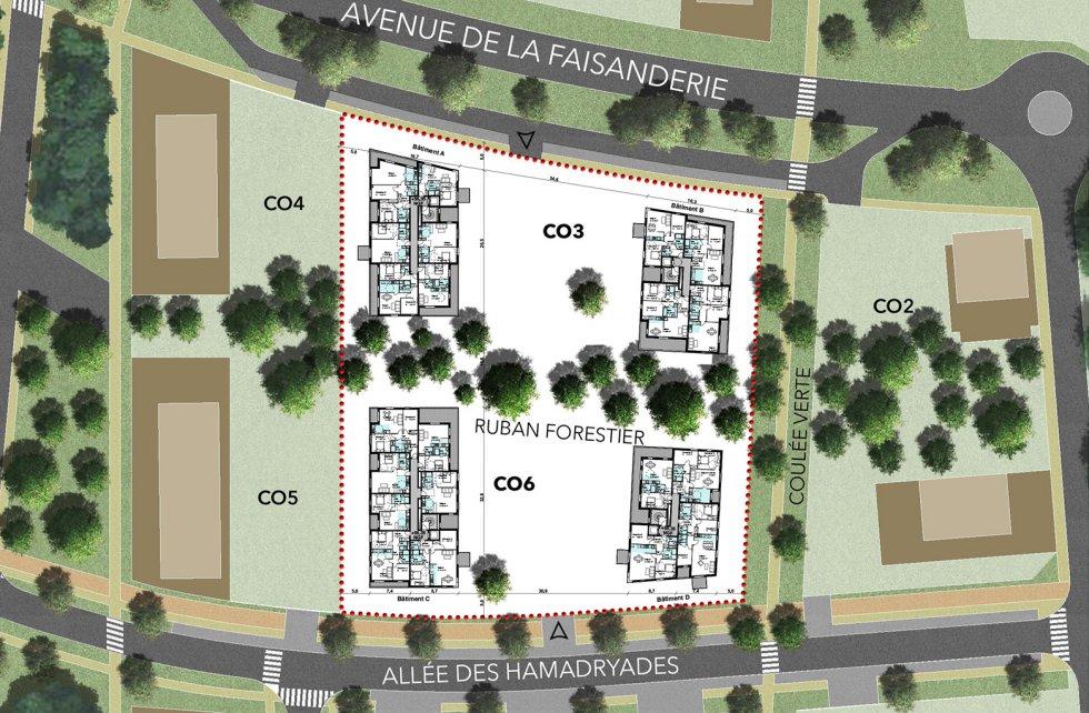 """ARVAL architecture - 71 Logements """"La Canopée"""" – Compiègne - 8 1829 logements"""