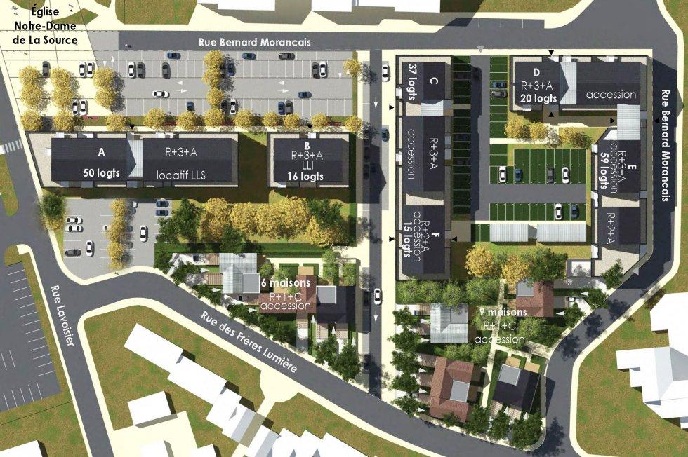 ARVAL architecture - Redéveloppement du site de Royallieu – COMPIEGNE - 5 Redéveloppement du site de l'Intermarché de Royallieu à COMPIEGNE-ARVAL
