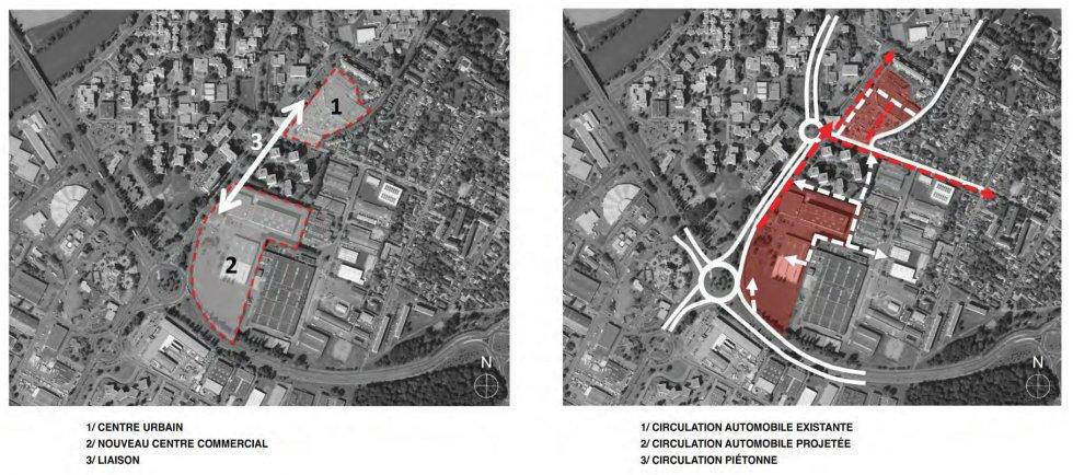 ARVAL architecture - Redéveloppement du site de Royallieu – COMPIEGNE - 2 Redéveloppement du site de l'Intermarché de Royallieu à COMPIEGNE-ARVAL