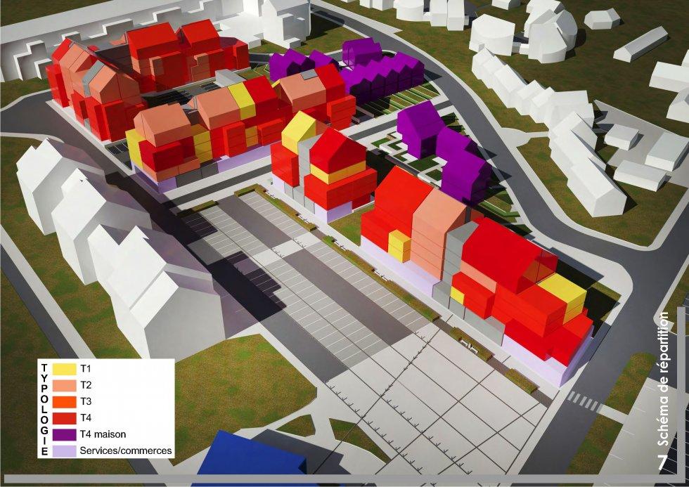 ARVAL architecture - Redéveloppement du site de Royallieu – COMPIEGNE - 6 Redéveloppement du site de l'Intermarché de Royallieu à COMPIEGNE-ARVAL