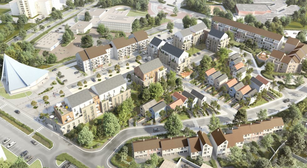 ARVAL architecture - Redéveloppement du site de Royallieu – COMPIEGNE - 1 Redéveloppement du site de l'Intermarché de Royallieu à COMPIEGNE-ARVAL