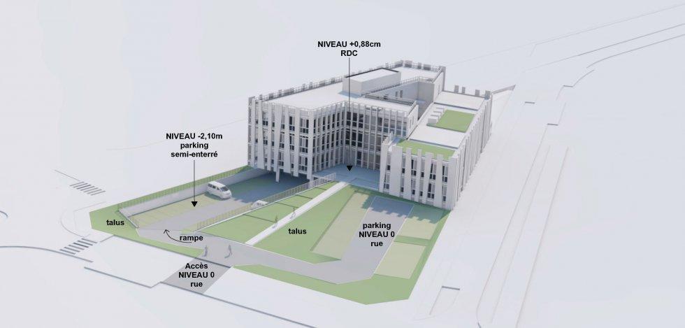 ARVAL architecture - BUREAUX ADIM – COMPIEGNE - 6 Bureaux Adim ZAC des Sablons Compiègne ARVAL