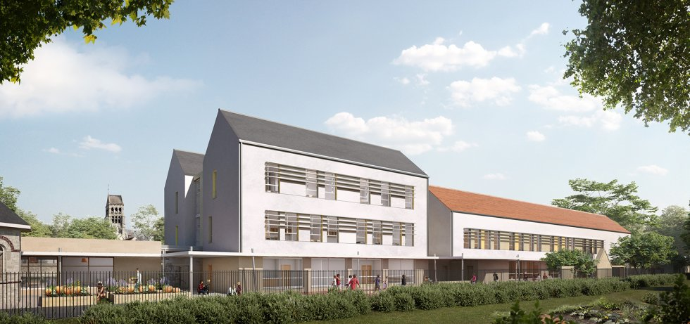 ARVAL architecture - GROUPE SCOLAIRE – NOGENT-SUR-OISE - 3 ARVAL Groupe scolaire Nogent-sur-Oise-sur-Oise