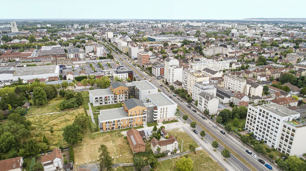 ARVAL architecture - RESIDENCE SERVICE SENIORS – TROYES - 1 RSS éco-quartier Troyes ARVAL