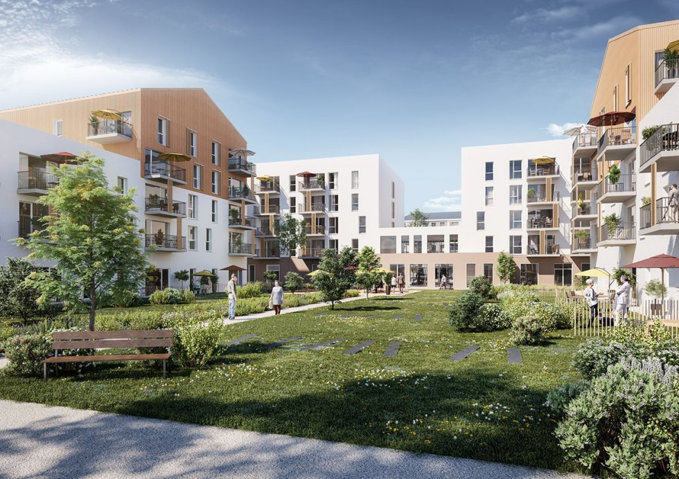 ARVAL architecture - RESIDENCE SERVICE SENIORS – TROYES - 2 RSS éco-quartier Troyes ARVAL
