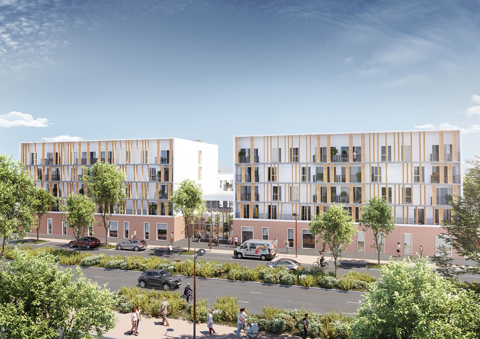 ARVAL architecture - RESIDENCE SERVICE SENIORS – TROYES - 3 RSS éco-quartier Troyes ARVAL