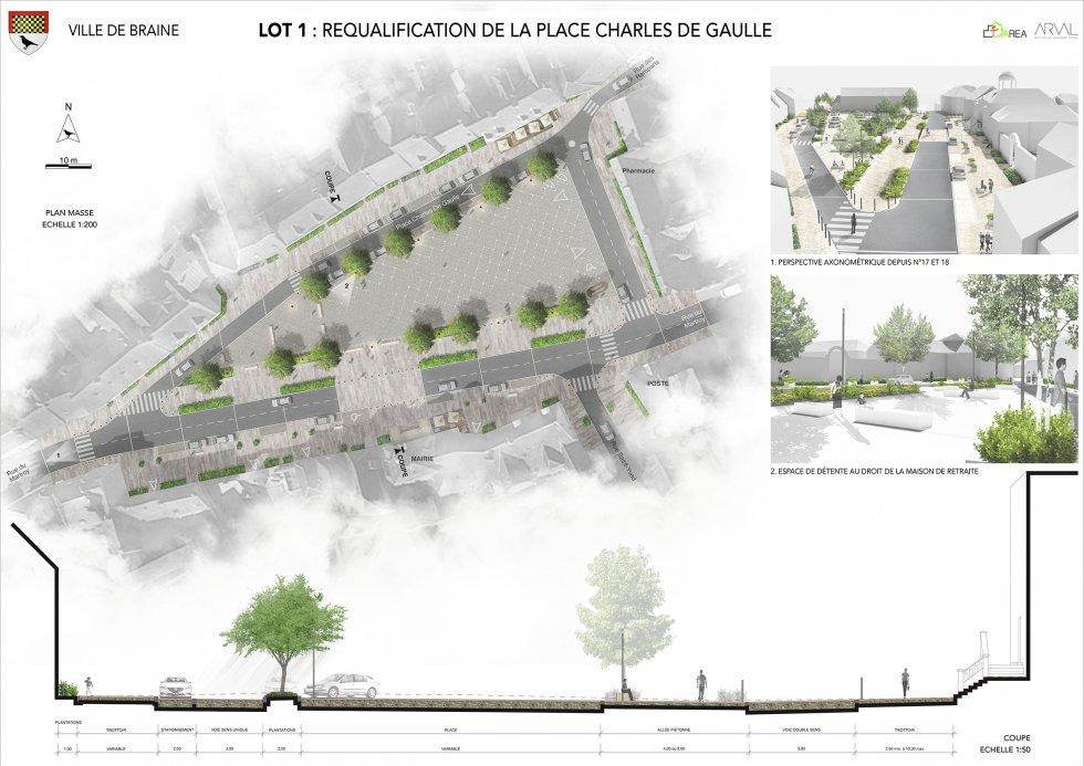ARVAL architecture - AMENAGEMENT – BRAINE - 1 ARVAL concours Braisne