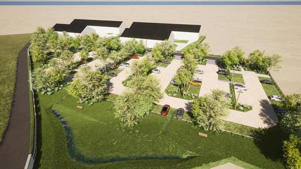ARVAL architecture - PARC DE STATIONNEMENT – SENLIS - 1 Parc de stationnement quartier Ordener Senlis ARVAL