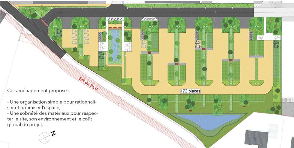 ARVAL architecture - PARC DE STATIONNEMENT – SENLIS - 2 Parc de stationnement quartier Ordener Senlis ARVAL