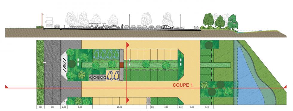 ARVAL architecture - PARC DE STATIONNEMENT – SENLIS - 3 Parc de stationnement quartier Ordener Senlis ARVAL